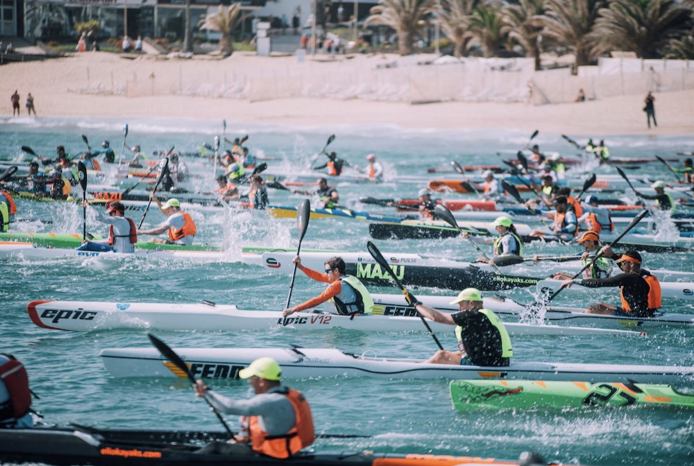 lanzorote world cup surfski held in lanzarote